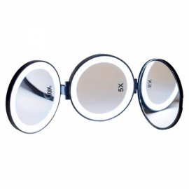Espejo Bolso 3 Caras con Luz Led x1, x5 y x10 D'orleac