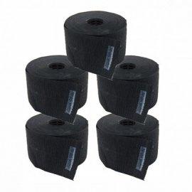 Papel Cuello Negro Giubra Paquete 5 Rollos x 100 servicios